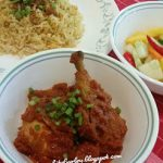 Nasi Carrot & Ayam Masak Merah